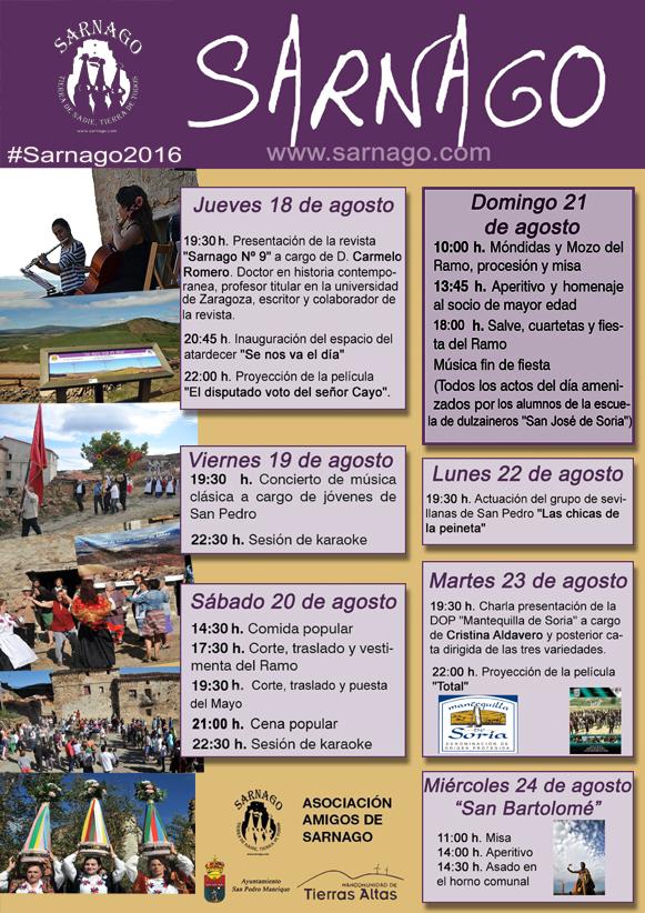 CARTELES SEMANA CULTURAL #SARNAGO2016